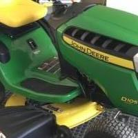 JOHN DEERE D 105 AUTO RIDING MOWER for sale in Sparta NC by Garage Sale Showcase member Scrap058, posted 05/21/2019