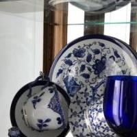 Bombay Blue and White Cups and Saucers with lids for sale in Macomb MI by Garage Sale Showcase member Humpfree#5, posted 06/17/2019