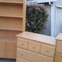 "Solid maple ""Pali"" 4 piece bedroom set that  goes from infant-toddler-youth-teen for sale in Rocklin CA by Garage Sale Showcase member 1MrsTin Rocklin1, posted 08/10/2019"