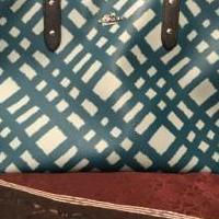 Authentic Turguoise Coach Tote for sale in Kerrville TX by Garage Sale Showcase member Lauralace15, posted 05/07/2019