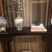 Dark wood asian style console table for sale in Morristown NJ by Garage Sale Showcase member benmorits, posted 07/14/2019
