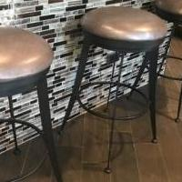 Bar Stools (3) for sale in Elgin IL by Garage Sale Showcase member legitt, posted 05/26/2019