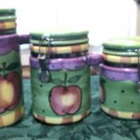 APPLE KITCHEN CANNISTERS for sale in Brunswick GA by Garage Sale Showcase member Leshc09251929, posted 06/27/2019