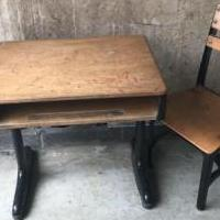 Antique children's school desk for sale in Bellevue OH by Garage Sale Showcase member Stephanie, posted 04/28/2019