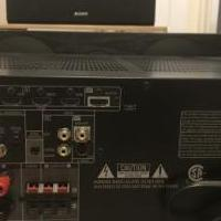 Denon 5.2 ch receiver and center speaker. for sale in Fishers IN by Garage Sale Showcase member HoosierSeller, posted 02/01/2020