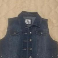 Justice jean vest for sale in Punta Gorda FL by Garage Sale Showcase member Adam+Sam, posted 09/17/2019