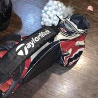 Taylor Made bag with irons, drivers and balls for sale in Noblesville IN by Garage Sale Showcase member Calum&Decorating, posted 09/20/2019
