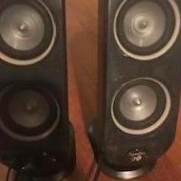 2 Logitech Speakers for sale in Bogart GA by Garage Sale Showcase member Maria, posted 09/18/2019