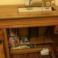 Sewing cabinet/machine for sale in Newport NC by Garage Sale Showcase member wsmann, posted 09/30/2019