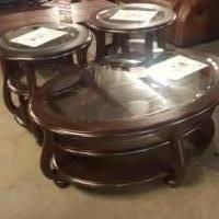3 living room tables by Yuxenburg for sale in Louisburg NC by Garage Sale Showcase member EverythingMustGo119, posted 11/30/2019