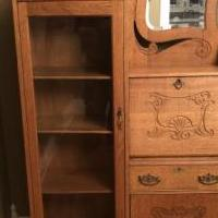 Antique oak secretary 1890-1920 for sale in Crystal Lake IL by Garage Sale Showcase member Ryno23, posted 12/26/2019