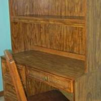 Oak Desk with Chair 74H X 42W for sale in Bartlett IL by Garage Sale Showcase member MarieAnn1, posted 01/13/2020