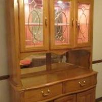 Oak China Hutch with light for sale in Bartlett IL by Garage Sale Showcase member MarieAnn1, posted 01/12/2020