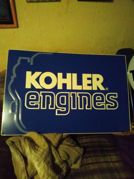 KOHLER ENGINES metal sign 3ft long 2ft wide for sale in Muskegon MI
