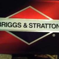 Briggs and Stratton metal sign 3ft long 2ft wide great shape for sale in Muskegon MI by Garage Sale Showcase member Dominick, posted 09/13/2019