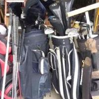 Golf clubs & bags for sale in Jupiter FL by Garage Sale Showcase member calbanese, posted 10/21/2019