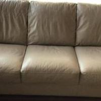 Leather Sofa and love seat for sale in Pinehurst NC by Garage Sale Showcase member WalterH, posted 12/28/2019