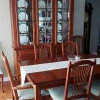 Dining Room set with 8 chairs for sale in Pinehurst NC by Garage Sale Showcase member WalterH, posted 12/28/2019