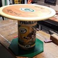 Green Bay Packer custom end table for sale in Cumberland WI by Garage Sale Showcase member airbus, posted 10/10/2019