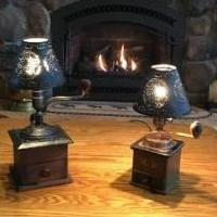 Coffee grinder lights for sale in Ballston Spa NY by Garage Sale Showcase member Custom maker, posted 11/22/2019