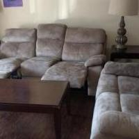 5 Pc Living Room with Reclining Sofa - $500 for sale in Naples FL by Garage Sale Showcase member bijumr, posted 12/01/2019