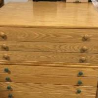 Oak Artist or plan drawers for sale in Pinehurst NC by Garage Sale Showcase member Billpace1950, posted 12/24/2019