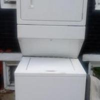 Whirlpool washer and dryer stacked for sale in Ridley Park PA by Garage Sale Showcase member LindaJ501, posted 08/25/2019