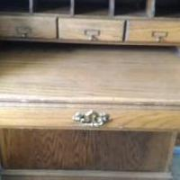 Solid oak desk for sale in Emanuel County GA by Garage Sale Showcase member Devlin, posted 09/06/2019