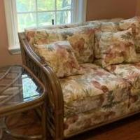 Wicker loveseat for sale in Mullica Hill NJ by Garage Sale Showcase member Michelemc23, posted 11/08/2019