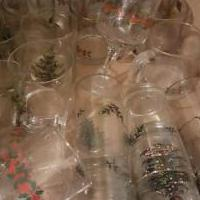 Holiday glasses for sale in Brockton PA by Garage Sale Showcase member Peppermint Patty, posted 12/13/2019
