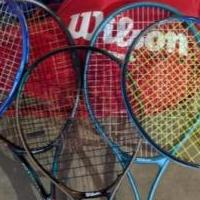 5 Wilson Tennis Racquets and bag for sale in Northfield MN by Garage Sale Showcase member Knight_Hawk, posted 11/24/2019
