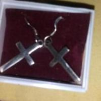 Vintage pair 925 silver cross earings for sale in Owatonna MN by Garage Sale Showcase member Doofydragon, posted 10/21/2019