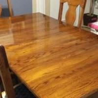 Solid Oak dining Rm Table & chairs  Absolutely Beautifull for sale in Bradford PA by Garage Sale Showcase member Jb6371#47, posted 11/12/2019