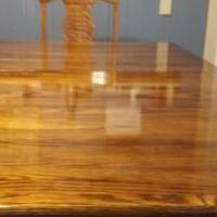 Solid Oak dining Rm Table & chairs  Absolutely Beautifull for sale in Bradford PA by Garage Sale Showcase member Jb6371#47, posted 09/28/2019