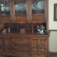 Oak Hutch & Buffet for sale in Iowa City IA by Garage Sale Showcase member TomTom, posted 11/08/2019