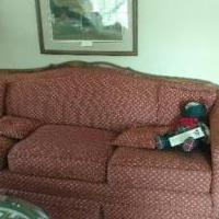 3 Cushion Oak Trimmed Couch for sale in Iowa City IA by Garage Sale Showcase member TomTom, posted 11/08/2019