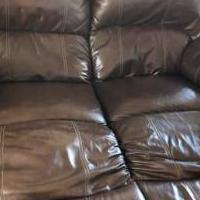 Leather sofa/love seat for sale in Lancaster KY by Garage Sale Showcase member Firednow01, posted 10/20/2019