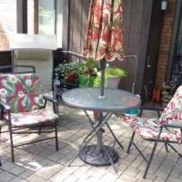 PATIO SET for sale in Elgin IL by Garage Sale Showcase member 3creekside, posted 09/23/2019