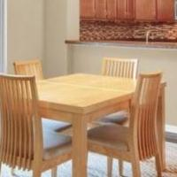 Kitchen table, 5 chairs, one leaf for sale in Woodstock IL by Garage Sale Showcase member Cyndi847, posted 01/30/2020
