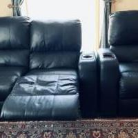 Recliners - media room set of 3 for sale in Monterey CA by Garage Sale Showcase member Kajol, posted 02/26/2020