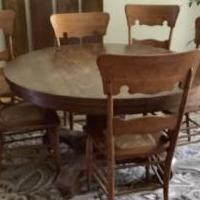 Dining Room Table w/4 ext. for sale in Oakfield NY by Garage Sale Showcase member Terry's, posted 07/17/2020