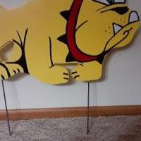 Bulldog Yard Sign    Hand Crafted for sale in Batavia IL by Garage Sale Showcase member Selling Stuff, posted 11/22/2020