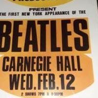 Beatles Carnegie Hall 1964 framed poster for sale in Palm City FL by Garage Sale Showcase member lola34990, posted 08/15/2020