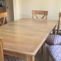 Ethan Allen dining table with 6 chairs for sale in South Orange NJ by Garage Sale Showcase member HaniePW, posted 09/04/2020