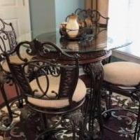 Kitchen Table and Bars Stools for sale in Pinehurst NC by Garage Sale Showcase member jmcnealjr, posted 06/07/2020