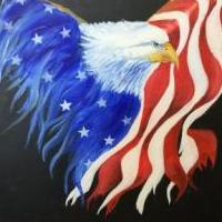 Old Glory Painting for sale in Gouldsboro PA by Garage Sale Showcase member Artistor, posted 07/14/2020