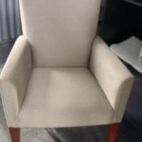 Tan Wingback Chair for sale in Southern Pines NC by Garage Sale Showcase member scastelli, posted 11/10/2020