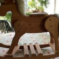 Solid Oak Rocking Horse for sale in Grayslake IL by Garage Sale Showcase member Sadie16, posted 02/22/2020