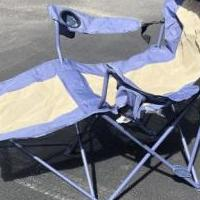 Canvas outdoor recliner chair for sale in Warren PA by Garage Sale Showcase member GrammyLu, posted 04/03/2020