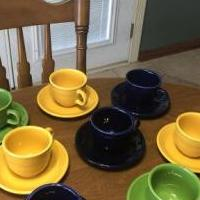 Fiesta Ware Cups and Saucers for sale in Warren PA by Garage Sale Showcase member GrammyLu, posted 03/22/2020